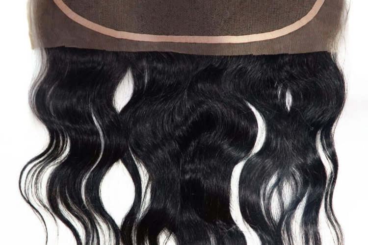 Lace frontal with Swiss lace and natural Indian hair in wavy hair, curly hair or straight hair