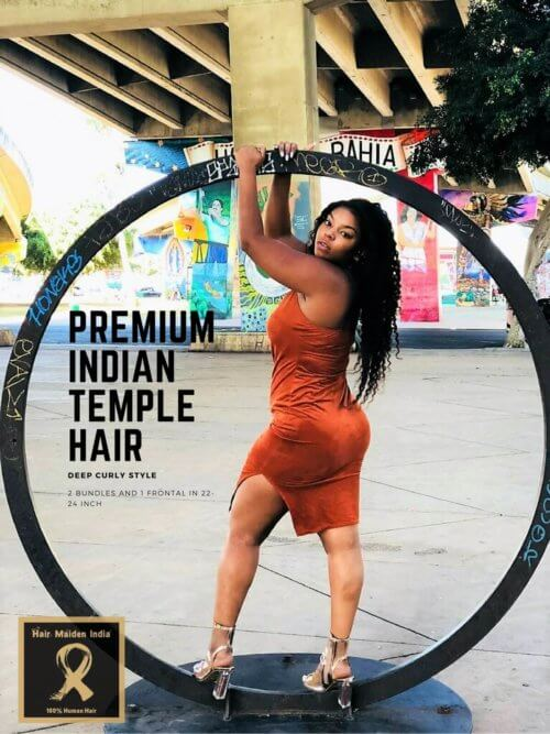 Premium Select Indian Temple Hair in Deep Curl