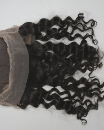 360 frontal with baby hair preplucked and hand tied knots with all swiss lace and raw indian hair