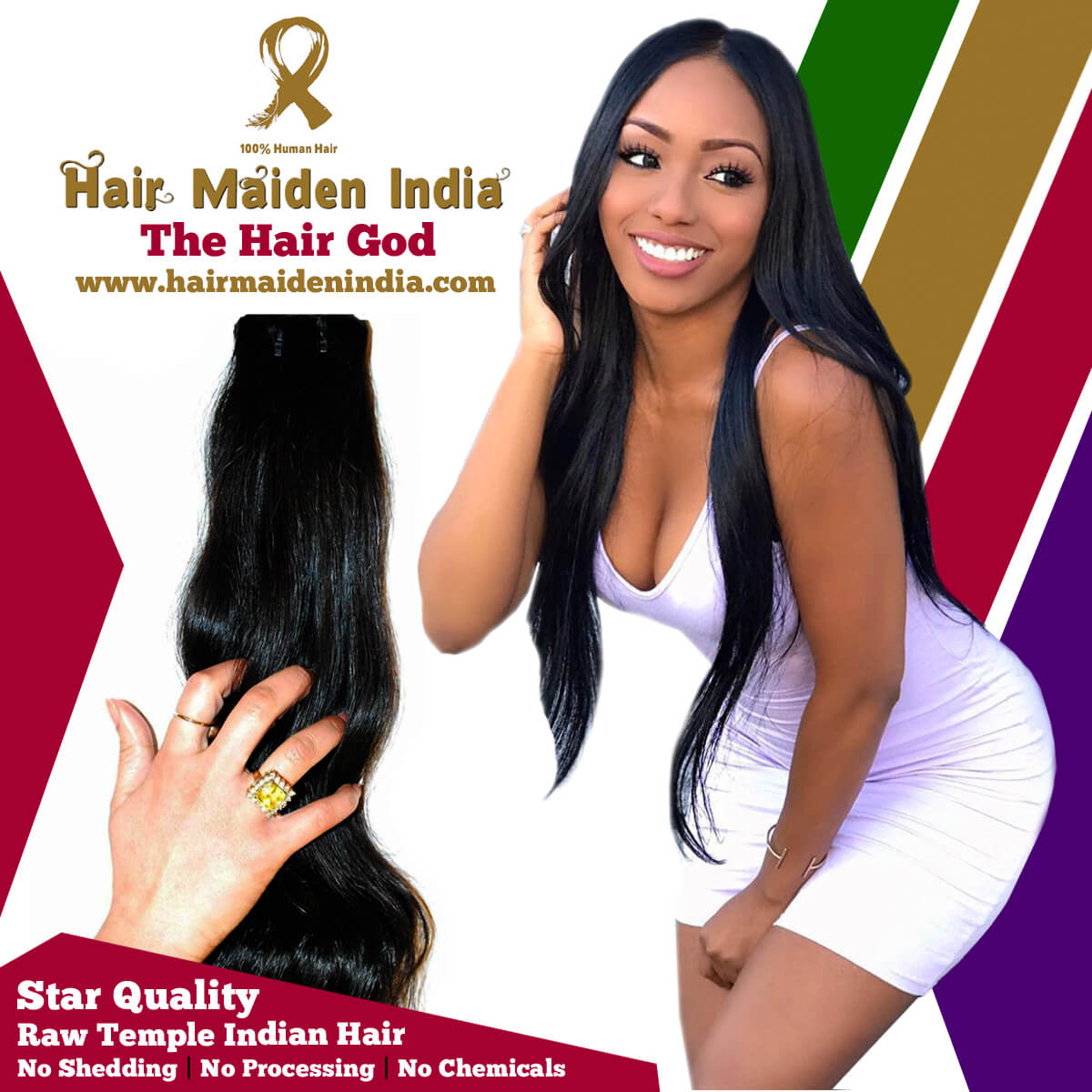 Hair extensions from India